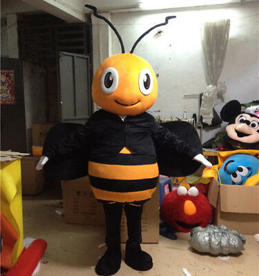 Adversting The Bee Mascot Costume Insect Cosplay Suit Animal WASP Party Game ADS
