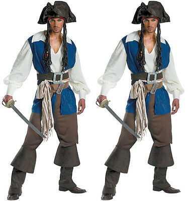 Captain Jack Sparrow Pirate Costume Pirates of the Caribbean Outfit Prom Gown (Captain Jack Sparrow Costume)