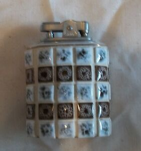 Vintage Ceramic Tile Table Lighter