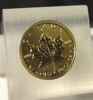 A VENDRE: FOR SALE,  Piece en or de 1/10 d'once,  Maple Leaf