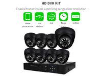CCTV 720P kit 8CH DVR +1TB HDD 8X Dome Cameras Outdoor HD Quality Night Vision