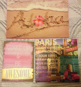 Girly Canvases/Wall Decor