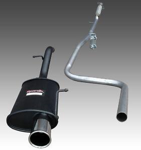 Ford Fiesta Mk6 1.6 16v Zetec S  Sportex Exhaust inc Race Tube Single 3