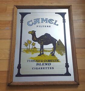 Miroir publicitaire cigaretes Camel vintage