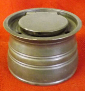 Antique Victorian Pewter Ink Well