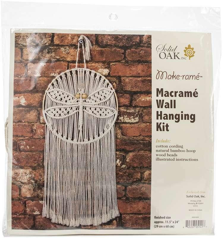 Macrame Wall Hanger Kit Dragonfly 845227051417