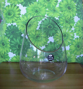 """New Glass Vases with box, 6"""" D x9"""" H"""