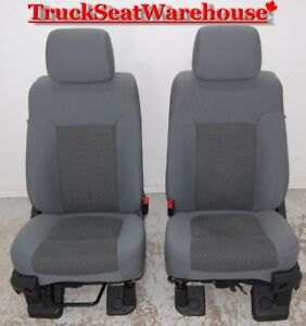 Ford F250 2011 Grey Cloth Power Super Duty Seats F350 F450 Truck
