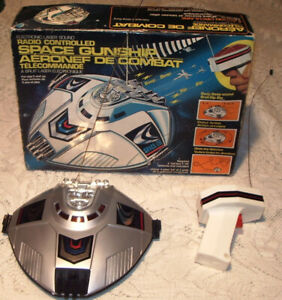 RARE BOXED 1980'S RADIO CONTROLLED SPACE GUNSHIP