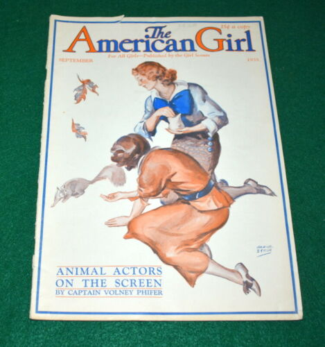 VINTAGE  GIRL SCOUT - 1935 AMERICAN GIRL - SEPTEMBER