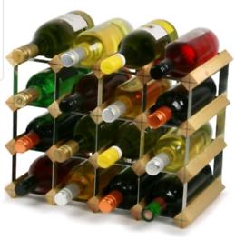 Wine rack kitchen storage for wine bottles wooden metal