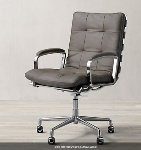 Rossi Leather Desk Office Chair Restoration Hardware