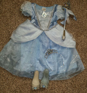 Disney Cinderella dress, shoes, crown and scepter.