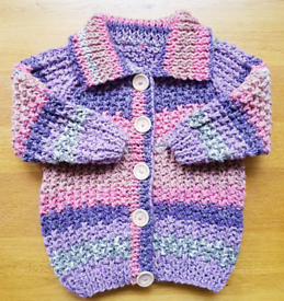 Hand knit chunky jacket ,3 to 4 years