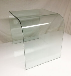 One-piece bent Glass ~ Waterfall-style end table ~ $120