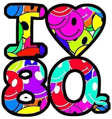 I Heart Love the 80's Iron On T Shirt Fabric Transfer #1 (I Heart 80s)