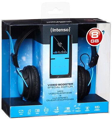 Intenso MP3 Player Video Scooter 8GB 1,8 Zoll Display ON-EAR Headphone blau