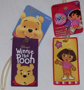 Dora & Winnie the Pooh Luggage Address Identification Tags - NEW London Ontario image 1