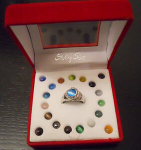 Ring Set -  Interchangeable Multi Stone, Sterling Silver
