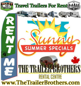 Going Camping? RENT a Travel Trailer