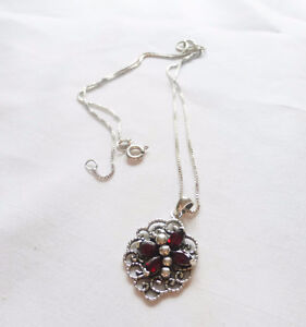 Sterling silver with Garnets
