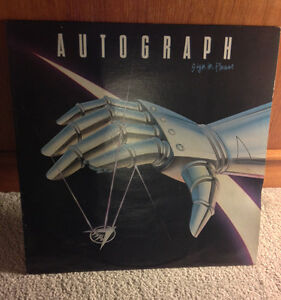 Autograph - Sign In Please Vinyl LP Record Van Halen