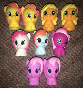 Fisher Price  Playskool My Little Pony Little People Lot of 9