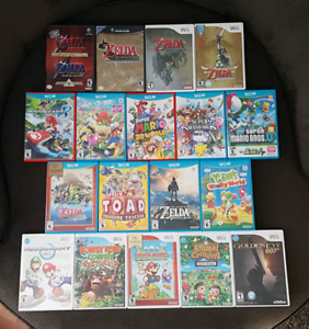 GameCube Wii and Wii U Games