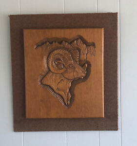 Mountain Goat / Mountain Sheep Wood Carvings by Lawrence Marx