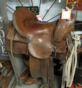 Vintage Great West Horse Saddle - BLUE Jar Antique Mall