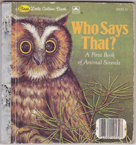 Vintage Who Says That 1982 First Little Golden Hardcover Book
