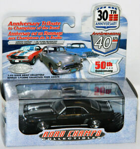 Road Champs 1/43 1969 Chevrolet Camaro Diecast Car Black