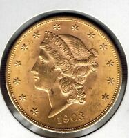 U.S.A: $20 Liberty Gold Double Eagle 1903