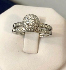 14k white gold diamond engagement ring set *Appraised @ $3,900