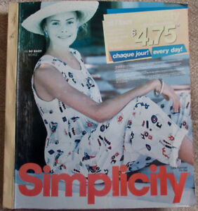 1996 Simplicity Pattern Store Counter Catalog Book