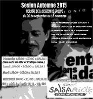 COURS DE SALSA - SESSION DE SEPTEMBRE