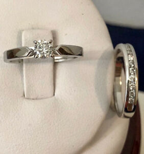 14k white gold diamond engagement ring set *Appraised at $2,700