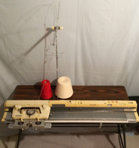 Vintage Singer 360 Knitting Machine with Ribbing Attachment