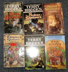 Lot of Terry Brooks books $5