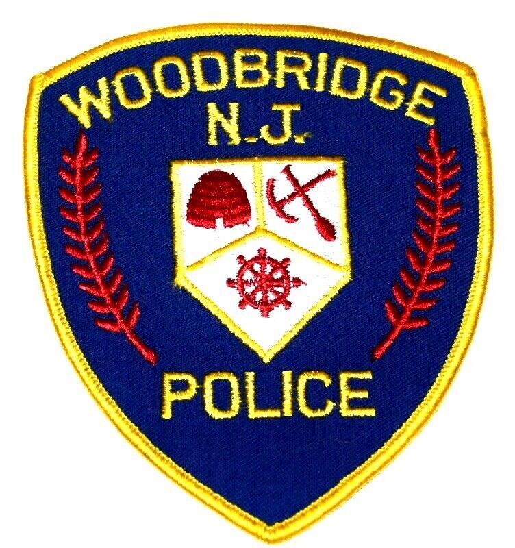 WOODBRIDGE NEW JERSEY NJ Sheriff Police Patch SHIPS WHEEL PICK AX BEEHIVE ~