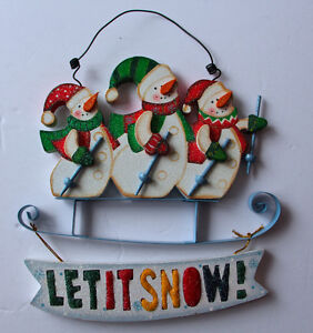 Let It Snow - Christmas Hung Decoration