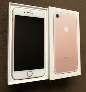 Rose Gold iPhone 7- 32gb -10/10 Condition - LNIB- UNLOCKED!
