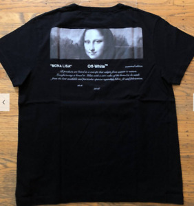 Off-White Mona Lisa Tee 04 in size XS black
