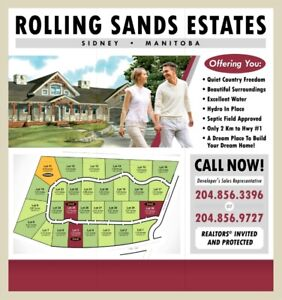 Rolling Sands Estates - A Perfect Place to Build Your Dream Home