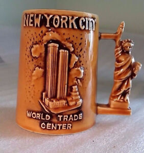 Vintage NYC Mug World Trade Center Towers Statue of Liberty Empi
