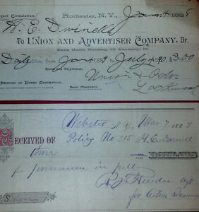 c1888 Antique Cheque Lot Cheques Paper vintage old retro Kingston Kingston Area image 2