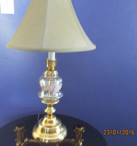 Brass Plated Crystal Glass Lamp Cambridge Kitchener Area image 1