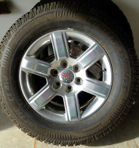 GMC Factory Alloy Rims with snow tires