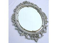 Baroque Rococo Ornate Antique Style Oval Wall Mirror