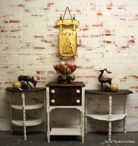 Beautiful array of solid wood antique side tables